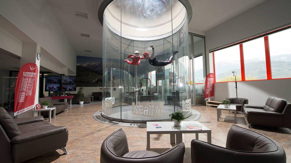 Simulateur de chute libre en Suisse