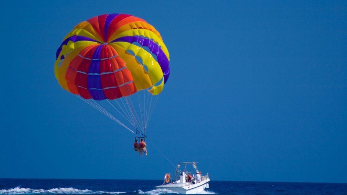 Parachute ascensionnel à Barcelone