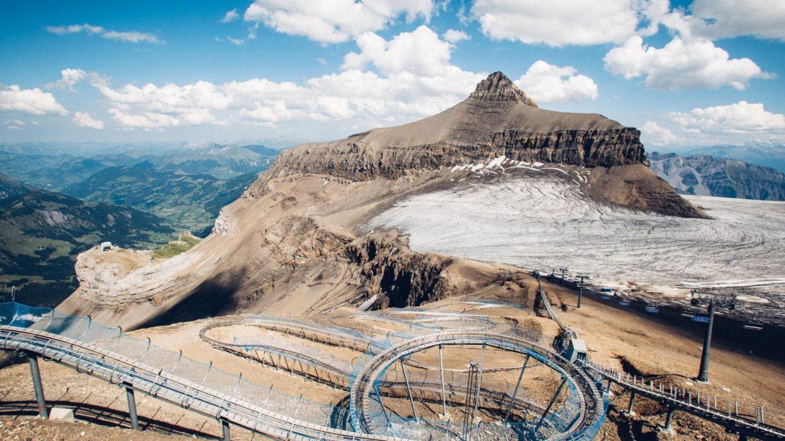 Luge Alpine au glacier 3000