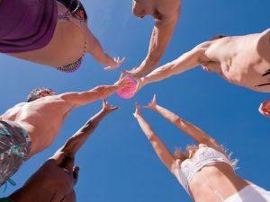 Beach game à Biarritz